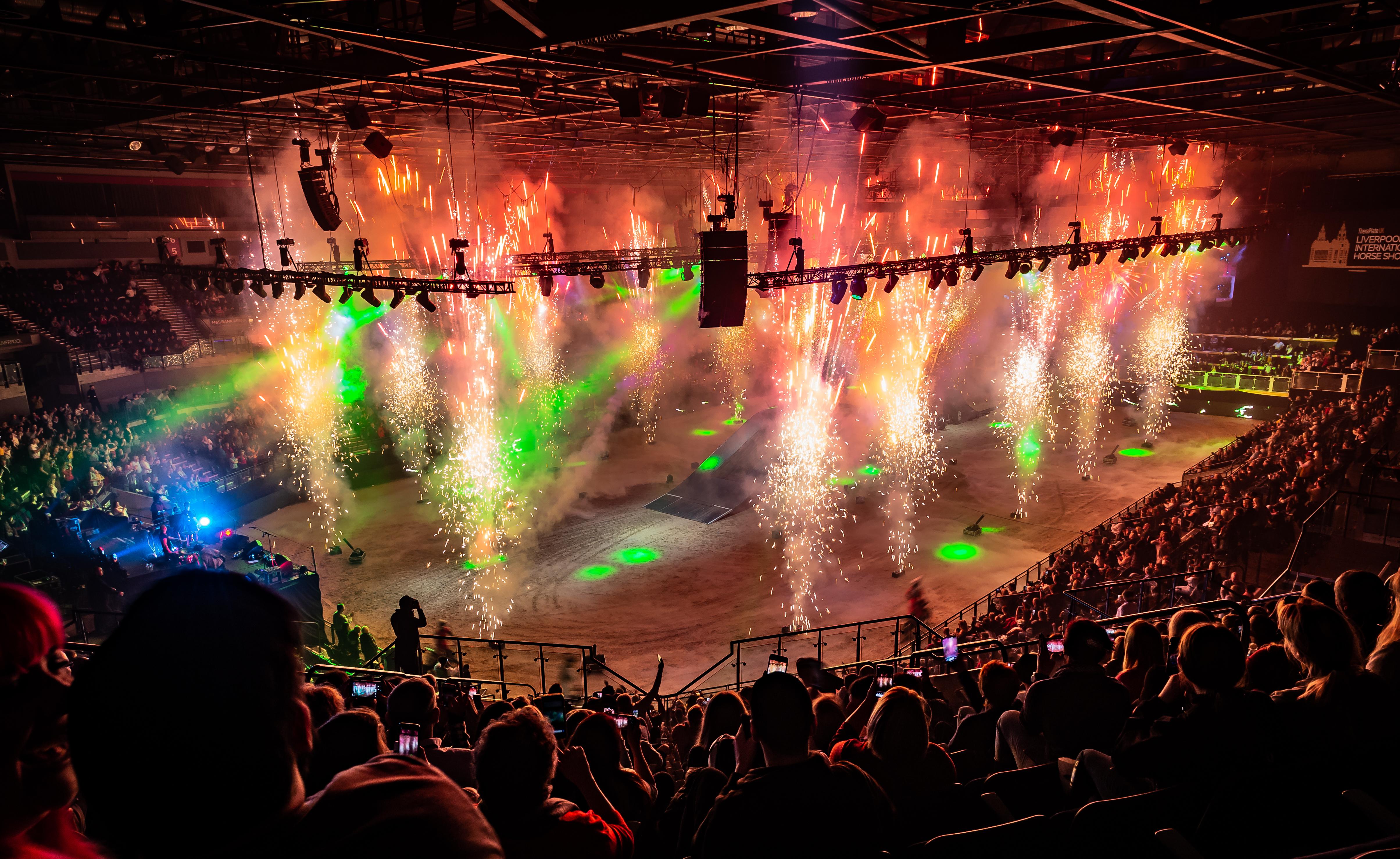 Fireworks arena shot